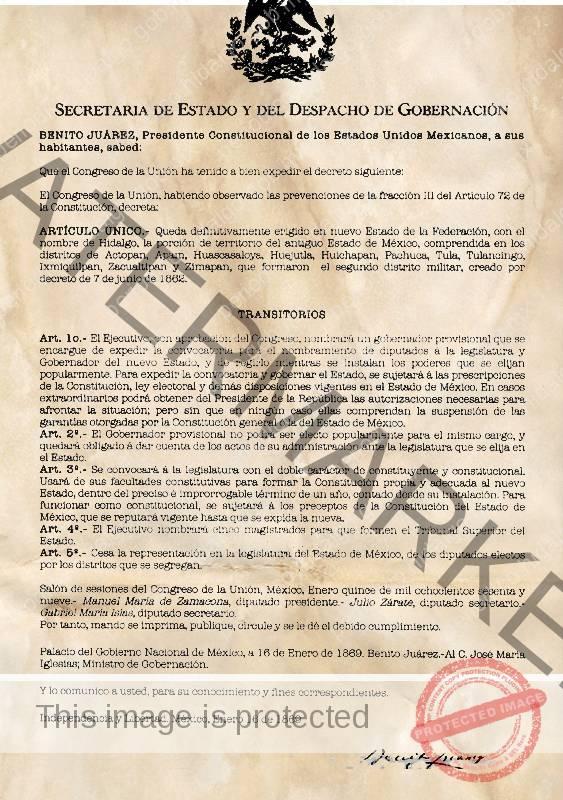 3d10e1efaf941 Periódico Oficial del Estado de Hidalgo
